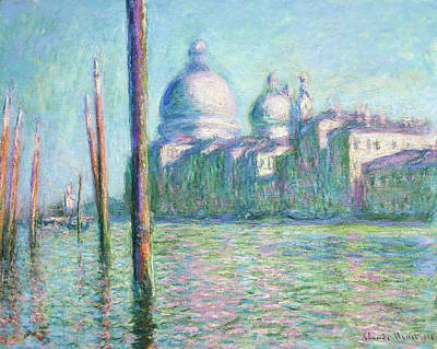 Rights Managed Images - Le Grand Canal Royalty-Free Image by Oscar-Claude Monet