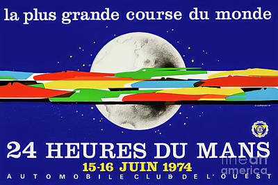 Drawings Royalty Free Images - Le Mans 1974 Grand Prix Royalty-Free Image by Jean Jacquelin
