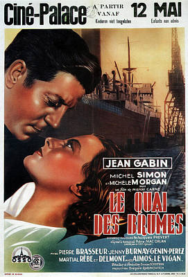 Personalized Name License Plates - Le Quai des Brumes, with Jean Gabin and Michel Simon, 1938 by Stars on Art