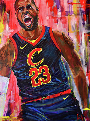 Painting - LeBron James by Christina Carmel