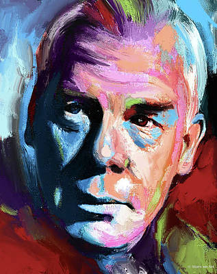 Stone Cold - Lee Marvin painting by Stars on Art
