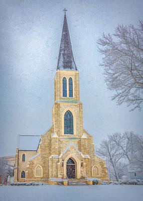Photograph - Lee University Chapel On A Snowy Day by Marcy Wielfaert