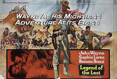 Royalty-Free and Rights-Managed Images - Legend of the Lost, with John Wayne and Sophia Loren, 1957 by Stars on Art