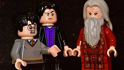 Railroad - Lego Severus Snape, Albus Dumbledore And Harry Potter by Neil R Finlay