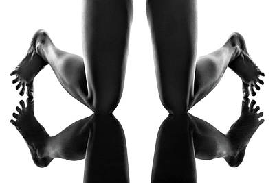 Marvelous Marble - Legs and feet reflections by Johan Swanepoel