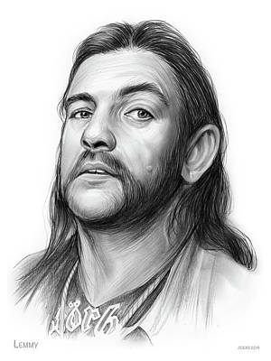 Musicians Drawings Rights Managed Images - Lemmy Royalty-Free Image by Greg Joens
