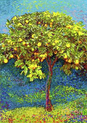 Impressionism Royalty-Free and Rights-Managed Images - Lemon Tree by Jane Small