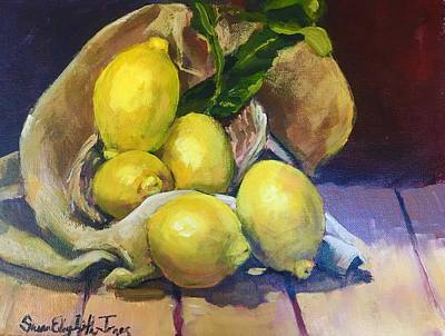 Susan Elizabeth Jones Royalty-Free and Rights-Managed Images - Lemon Still Life by Susan Elizabeth Jones