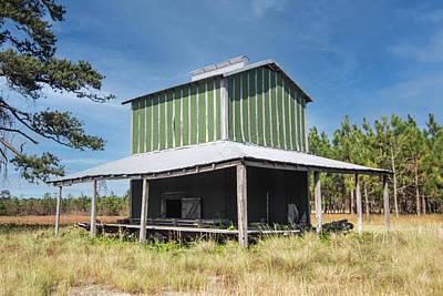 Thomas Kinkade Rights Managed Images - Lenoir County Tobacco Barn - North Carolina Royalty-Free Image by Bob Decker