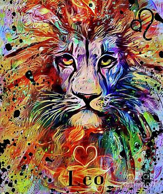 Studio Grafika Patterns Rights Managed Images - Leo Zodiac Art Royalty-Free Image by Laurie