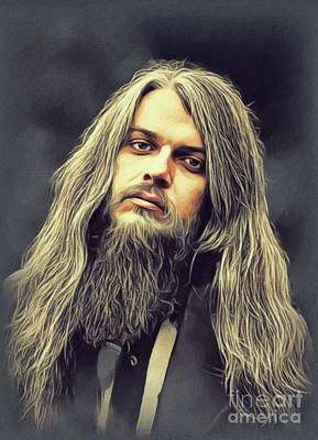 Music Paintings - Leon Russell, Music Legend by John Springfield
