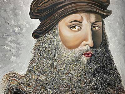 Painting - Leonardo Da Vinci by Doug LaRue