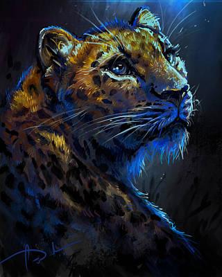 Digital Art - Leopard by Cass Womack