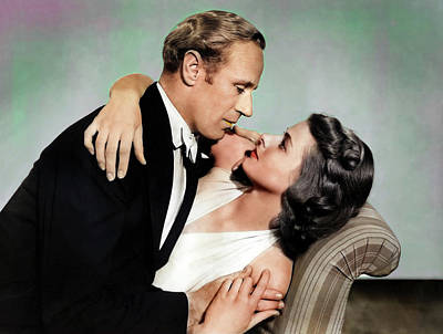 Royalty-Free and Rights-Managed Images - Leslie Howard and Ingrid Bergman by Stars on Art