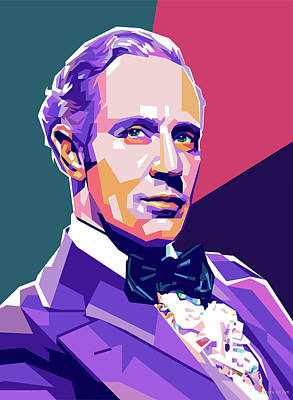 Vesna Antic Abstract Paintings - Leslie Howard by Stars on Art
