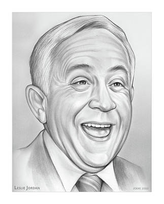 Drawings Royalty Free Images - Leslie Jordan - Pencil Royalty-Free Image by Greg Joens