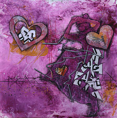 Mixed Media - Letting my Heart Dance by Laura Lein-Svencner