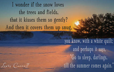 Winter Animals - Lewis Carroll Winter Quote by Dan Sproul