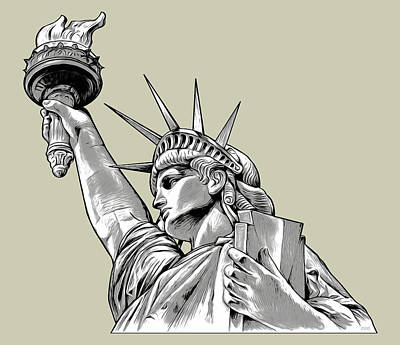Royalty-Free and Rights-Managed Images - Liberty Line Art by Greg Joens