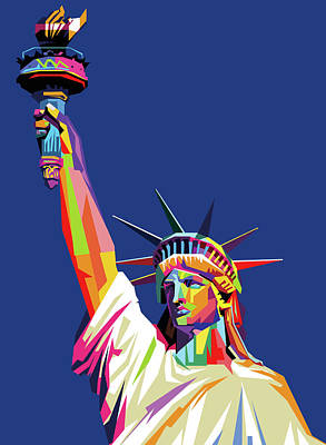 Royalty-Free and Rights-Managed Images - Liberty Statue Wpap Pop Art by Ahmad Nusyirwan