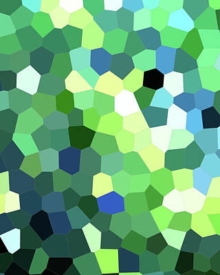 Royalty-Free and Rights-Managed Images - Light In The Garden Green Mosaic Decor I by Irina Sztukowski