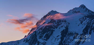 Royalty-Free and Rights-Managed Images - Light of the Morning Mount Shuksan by Mike Reid