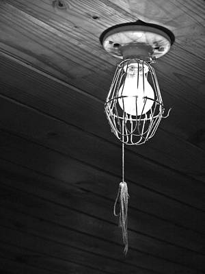 Beer Blueprints - Light On The Ceiling - Black and White by Joey OConnor Photography