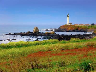 Sara Habecker Folk Print - Lighthouse In Nova Scotia, Canada by Helen Filatova