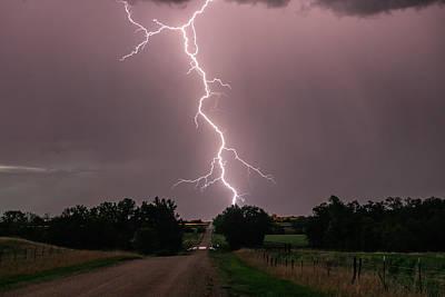 Photograph - Lightning Down the Road by Willard Sharp