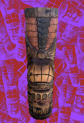 Whimsically Poetic Photographs Rights Managed Images - Lil Drummer Tiki - RFunk BG Royalty-Free Image by Anthony Jones
