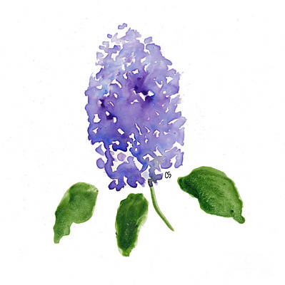 Spot Of Tea Royalty Free Images - Lilac Impression in Watercolor Royalty-Free Image by Conni Schaftenaar