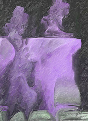 Abstract Shapes Janice Austin Royalty Free Images - Lilac table Royalty-Free Image by Joaquin Abella