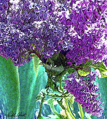 Abstract Royalty-Free and Rights-Managed Images - Lilacs in a Vase by Michele Avanti