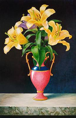 Chemical Glassware - Lilies by Vladimir Frolov