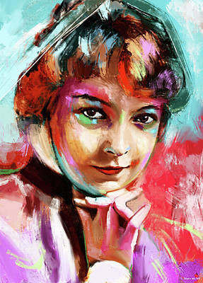 Royalty-Free and Rights-Managed Images - Lillian Gish by Stars on Art