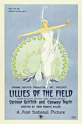 Royalty-Free and Rights-Managed Images - Lillies of the Field, 1924 by Stars on Art