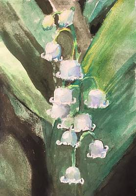 Susan Elizabeth Jones Royalty-Free and Rights-Managed Images - Lily of the Valley by Susan Elizabeth Jones