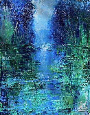 Painting - Lily pad River  by Julia S Powell