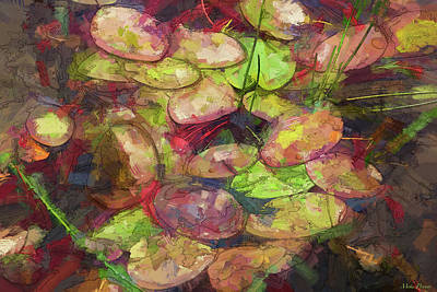 Classic Golf - Lily Pads 03 by Mike Penney