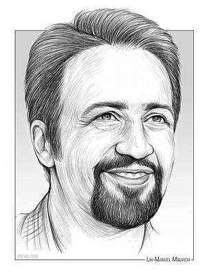 Drawings Rights Managed Images - Lin-Manuel Miranda Royalty-Free Image by Greg Joens