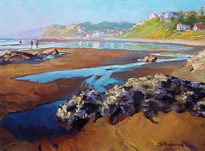 Painting Royalty Free Images - Lincoln City Beach Royalty-Free Image by Steve Henderson