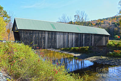 Keith Richards - Lincoln Covered Bridge in Autumn by Catherine Sherman