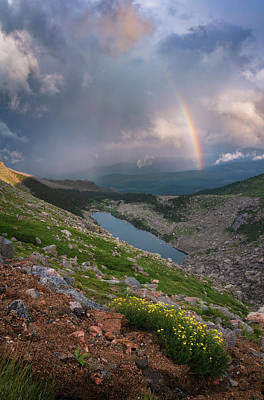 Royalty-Free and Rights-Managed Images - Lincoln Lake Rainbow by Darren White