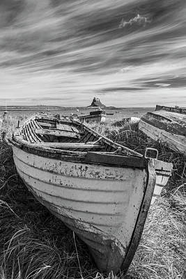 On Trend At The Pool - Lindisfarne Harbour Boats by David Taylor