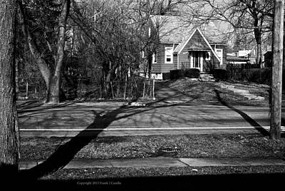 Frank J Casella Royalty-Free and Rights-Managed Images - Lines and Shadows on the Street by Frank J Casella