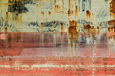 Photograph - Lines, stains and symbols by Frans Blok