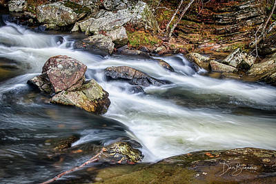 Dan Beauvais Royalty-Free and Rights-Managed Images - Linville Falls 6686 by Dan Beauvais