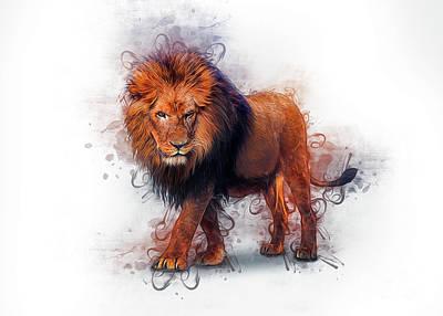 Animals Digital Art - Lion Art by Ian Mitchell