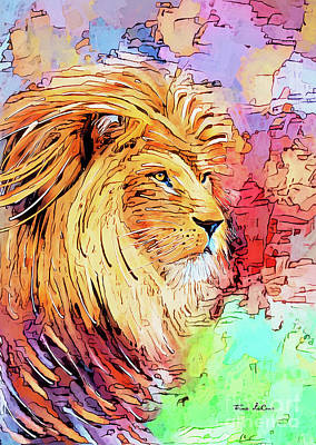 Animals Royalty-Free and Rights-Managed Images - Lion Pride by Tina LeCour
