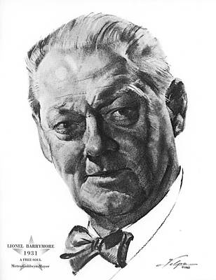 Drawings Royalty Free Images - Lionel Barrymore by Volpe Royalty-Free Image by Stars on Art